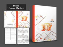 Personal organizer, diary or notebook design. Personal organizer, diary or notebook for the year 2017 Stock Photo