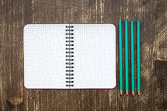 Personal organizer and four pencil Stock Image