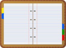 Personal organizer (notebook) Stock Images