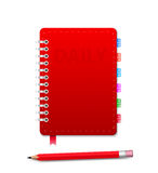 Personal Organizer with Pensil Royalty Free Stock Images