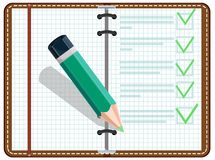 Personal Organizer. Vector illustration of open diary Stock Photography