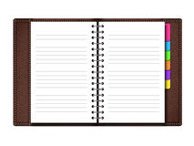 Personal organizer on white background Royalty Free Stock Photography
