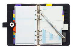 Personal Organizer With Pen Royalty Free Stock Photo