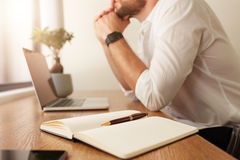 Personal organizer on work desk Stock Photography