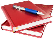 Personal organizers and ball-point pen Royalty Free Stock Image