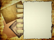 Personal papers template Royalty Free Stock Image