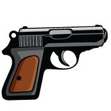 Personal Pistol Gun Vector Royalty Free Stock Photography