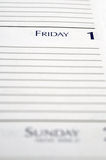 Personal Planner Stock Photography