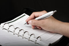 Personal Planner Stock Image