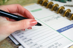 Personal Planner Stock Images