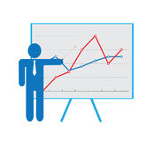 Personal presentation icon Royalty Free Stock Photography