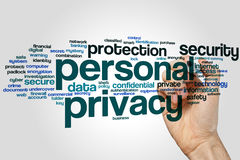 Personal privacy word cloud Stock Photo