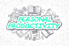 Personal Productivity - Doodle Green Word. Business Concept. Royalty Free Stock Photography