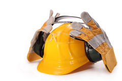 Personal protective equipment in the building Royalty Free Stock Image