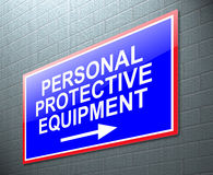 Personal protective equipment concept. Illustration depicting a sign with a personal protective equipment concept Stock Image