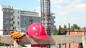 Personal Protective Equipment on the Construction Site stock video footage