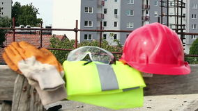 Personal Protective Equipment, Construction. Personal protective equipment on the construction site.HD1080p stock video footage
