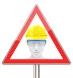 Personal protective equipment. 3d generated picture of personal protective equipment (work safe vector illustration