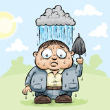 Personal Rain Cloud Stock Photography