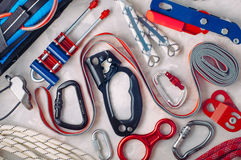 Free Personal Safety Equipment Using In Climbing Stock Photos - 83713203