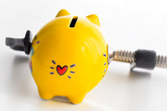 Personal savings pressure Royalty Free Stock Image