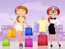 Personal shopper. Illustration of personal shopper girl Royalty Free Stock Image