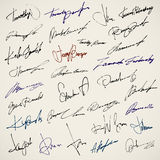 Personal signature Stock Images