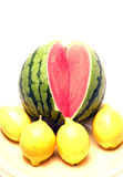 Personal size watermelon Royalty Free Stock Images
