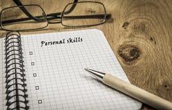 Personal skills list Royalty Free Stock Image