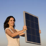 Personal Solar Panel During Sunset Royalty Free Stock Image