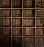 Storage Space. Wooden shelf Stock Image