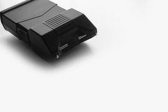 Personal Taser - Stun Gun. A personal taser isolated on white with copy space stock photography