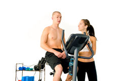 Personal Trainer Royalty Free Stock Images