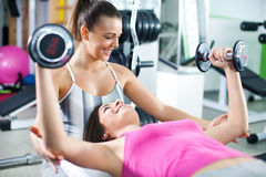 Personal trainer Royalty Free Stock Photography
