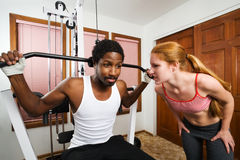 Personal Trainer Encouragement Royalty Free Stock Image