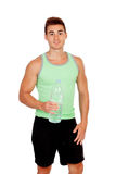 Personal trainer of fitness drinkin Royalty Free Stock Photo