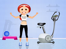 Personal trainer. Funny illustration of personal trainer Stock Images
