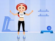 Personal trainer girl. Illustration of personal trainer girl Stock Image