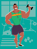Personal trainer at the gym Stock Photo