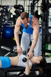 Personal trainer Royalty Free Stock Image