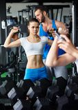 Personal trainer Stock Photo
