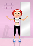 Personal trainer. Illustration of personal trainer girl Stock Images