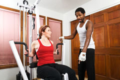 Personal Trainer Instruction royalty free stock photography