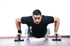 Personal trainer man Stock Image