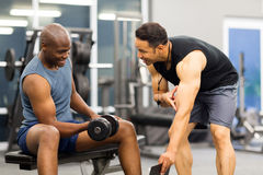 Personal trainer training client Royalty Free Stock Photography
