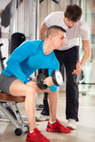 Personal trainer on training with  client Royalty Free Stock Image