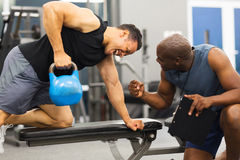 Personal trainer training Royalty Free Stock Photography