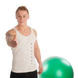 Personal trainer welcoming Stock Photography