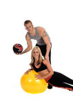 Personal Trainers. A Male and female team of personal trainers Royalty Free Stock Images