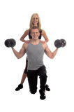 Personal Trainers. A male female team of personal trainers Stock Image
